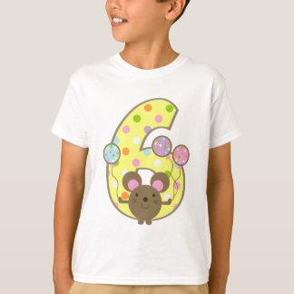 Camiseta T-shirt do aniversário do amarelo do rato do balão