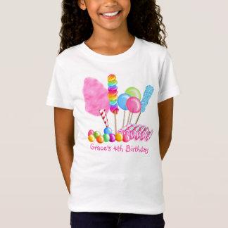 Camiseta T-shirt do aniversário do circo dos doces
