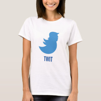 "Camiseta T-shirt do Anti-Trunfo: Donald Trump ""TWIT """
