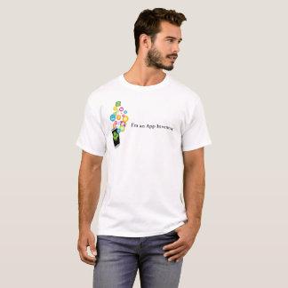 Camiseta T-shirt do App dos homens móveis de CSP