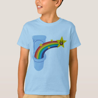 Camiseta T-shirt do arco-íris do toalete