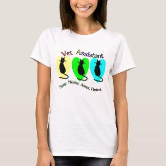 Camiseta T-shirt do assistente do veterinário