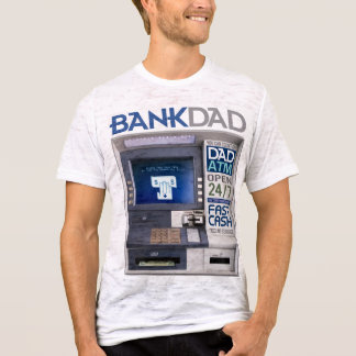 Camiseta T-shirt do ATM do pai do banco