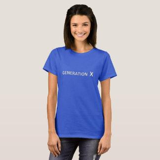 Camiseta T-shirt do azul da geração X