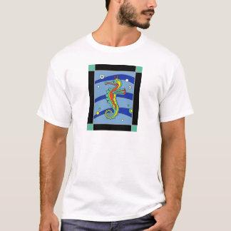 Camiseta T-shirt do azulejo do cavalo marinho da ilha de