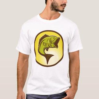 Camiseta T-shirt do baixo Largemouth dos homens