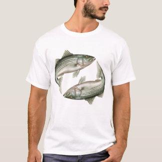 Camiseta T-shirt do baixo listrado