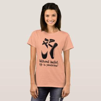 Camiseta T-shirt do balé do Pointe das mulheres