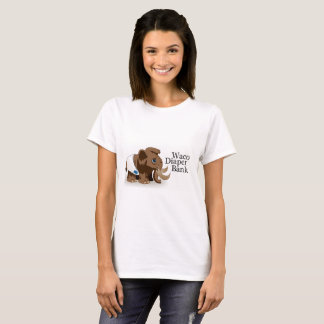 Camiseta T-shirt do banco da fralda do Waco das mulheres