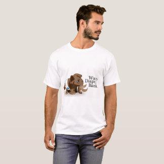 Camiseta T-shirt do banco da fralda do Waco dos homens