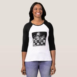 Camiseta T-shirt do basebol da fábrica do gritar