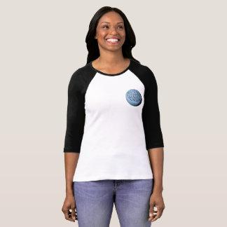 Camiseta T-shirt do basebol da lua de MST3K (preto)