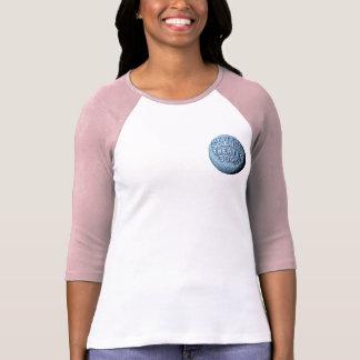 Camiseta T-shirt do basebol da lua de MST3K (rosa)
