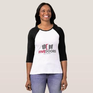 Camiseta T-shirt do basebol das mulheres