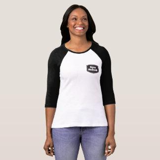 Camiseta T-shirt do basebol das mulheres da banda de Ryan