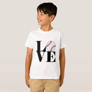 Camiseta T-shirt do basebol do amor
