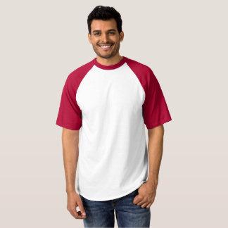 Camiseta T-shirt do basebol do Raglan dos homens