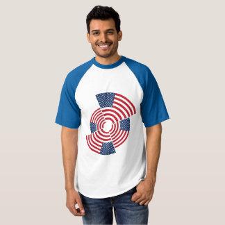 Camiseta T-shirt do basebol do Raglan dos homens idosos da