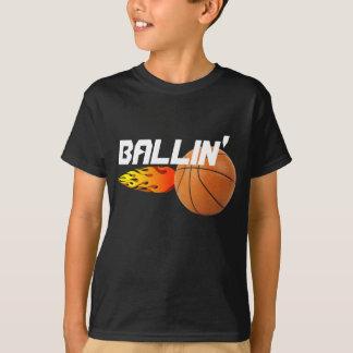 Camiseta T-shirt do basquetebol de Ballin