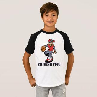 Camiseta T-shirt do basquetebol do tema do cruzamento dos