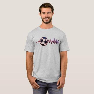 Camiseta T-shirt do batimento cardíaco do futebol (edição