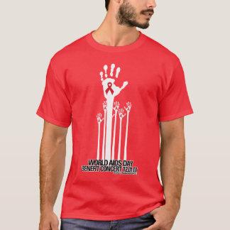 Camiseta T-shirt do benefício do concerto do Dia Mundial do