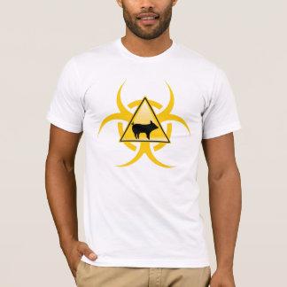 Camiseta T-shirt do Biohazard da gripe dos suínos H1N1