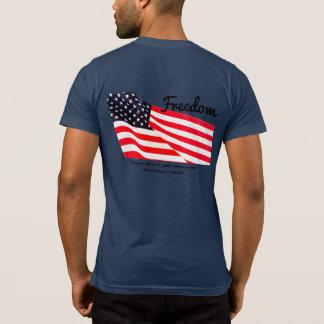 Camiseta T-shirt do bolso da bandeira da liberdade dos