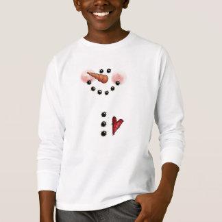 Camiseta T-shirt do boneco de neve