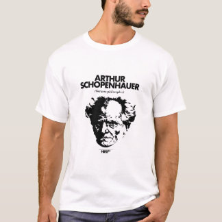 Camiseta T-shirt do branco de Arthur Schopenhauer