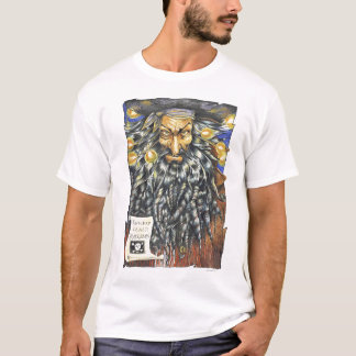 Camiseta T-shirt do branco de Blackbeard
