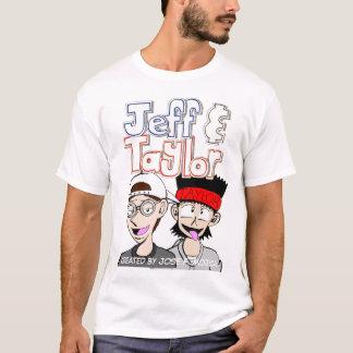 Camiseta T-shirt do branco de Jeff & de Taylor