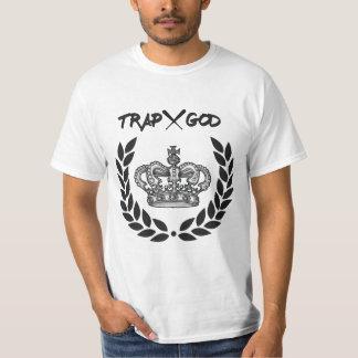 Camiseta T-shirt do branco do deus da armadilha X
