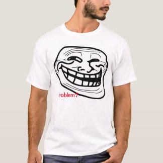 Camiseta T-shirt do branco do meme do problema!
