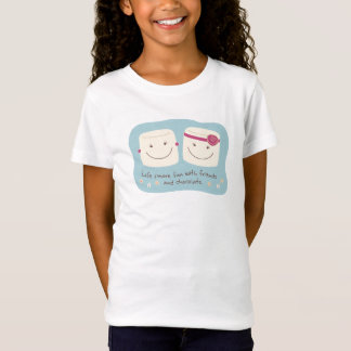Camiseta T-shirt do branco dos amigos do Marshmallow do