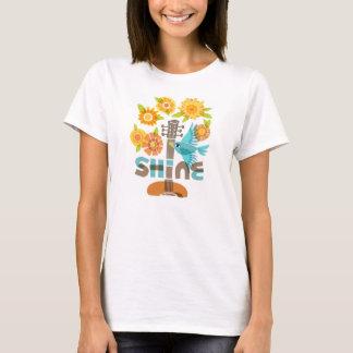 """Camiseta T-shirt do """"brilho"""" das mulheres"""