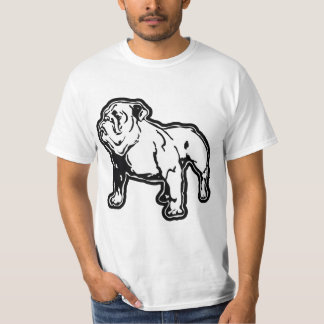 Camiseta T-shirt do buldogue por mini irmãos