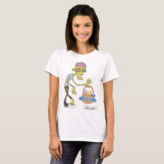 Camiseta T-shirt do caçador do ovo do zombi do felz pascoa