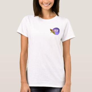Camiseta T-shirt do Caduceus da enfermeira diplomada |RN