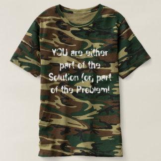 Camiseta T-shirt do Camoflauge dos homens que promove o