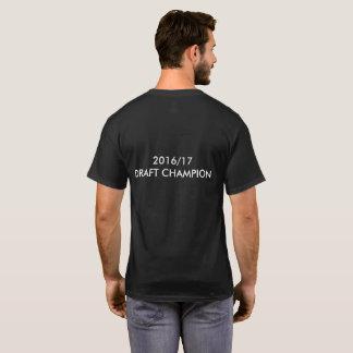 Camiseta T-shirt do campeão da fantasia 2017/18 do esboço