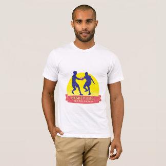 Camiseta T-shirt do campeonato da bola da cesta