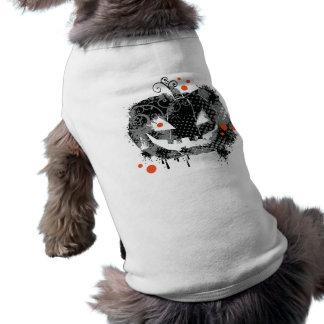 Camiseta T-shirt do cão da abóbora do Dia das Bruxas