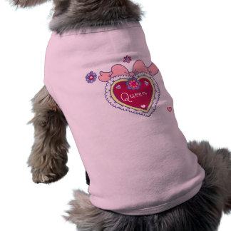 Camiseta T-shirt do cão da rainha