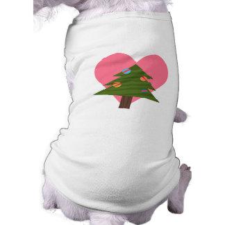 Camiseta T-shirt do cão das árvores de Natal do amor dos cã