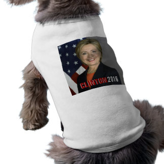 Camiseta T-shirt do cão de Clinton 2016