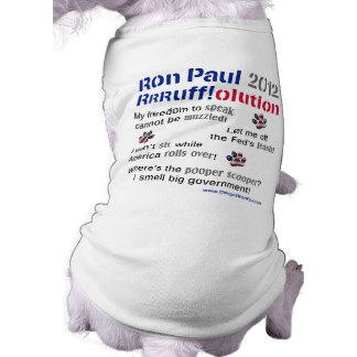 Camiseta T-shirt do cão de Dawgz 4 Ron Paul 2012