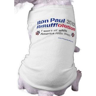 Camiseta T-shirt do cão de Dawgz 4 Ron Paul: América Rolls