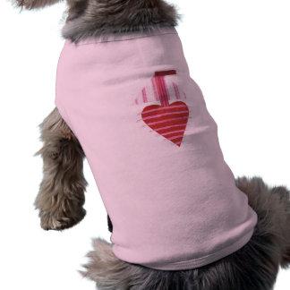 Camiseta T-shirt do cão do barco de Loveheart