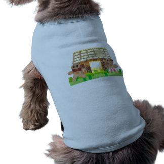 Camiseta T-shirt do cão do casal da casa de pão-de-espécie